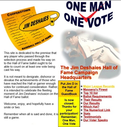 JD HOF -- ONe Man One Vote