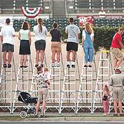 riverdogs fans on ladders