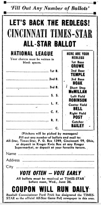 Ballot from Cincy Newspaper