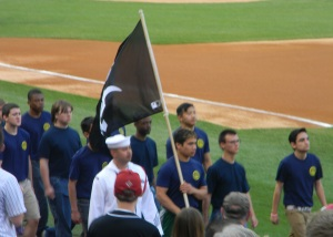 Navy Guys w Sox Flag