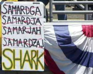 Shark Sign in Oakland