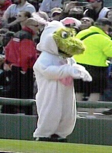 Southpaw as Easter Bunny.