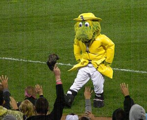 Southpaw in Raincoat Dancing