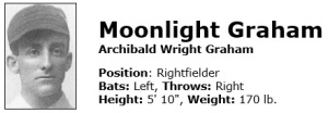 MoonlightGraham from Baseball ref